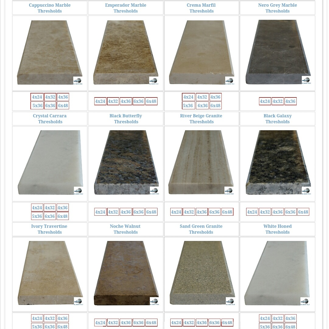 Shop Saddle Threshold Tiles By Scabos Tile Scabos Tile